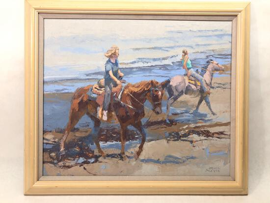Signed & Framed Painting, Drake Seaman