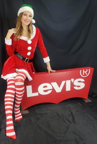 Large Levis Jeans Sign