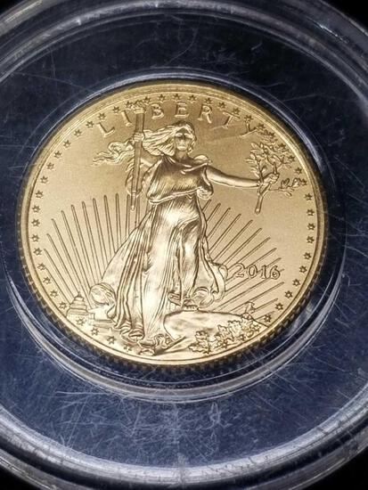 2016 1/10 Fine Gold 5 Dollar Coin