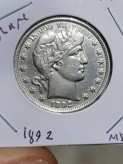 1892 Barber Half Dollar Rare
