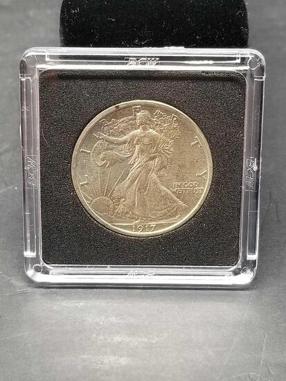 1917 Walking Liberty Half Dollar AU