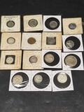 Vintage Foreign Coins 15 Units Separate george heads