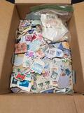 Box Full of US and Foreign Stamps
