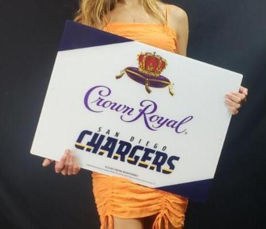 Crown Royal San Diego Chargers Neon Sign