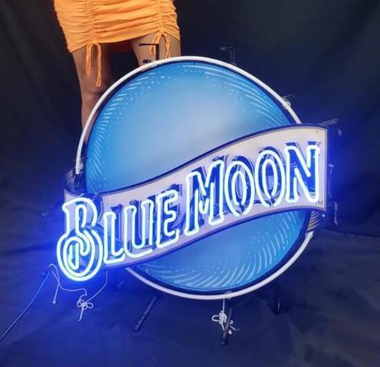 Blue Moon Neon Sign