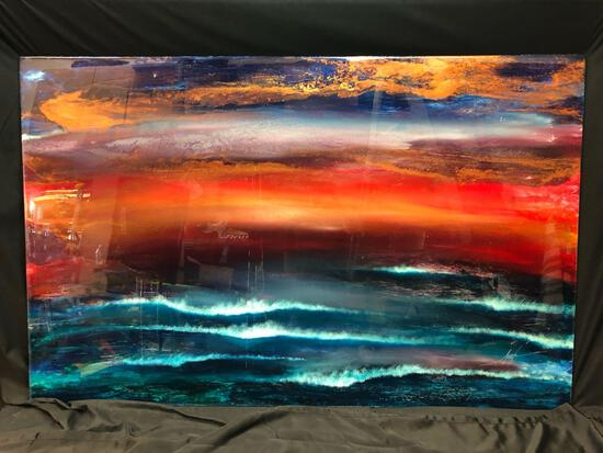 Nicholas Mirandon Signed Resin Painting