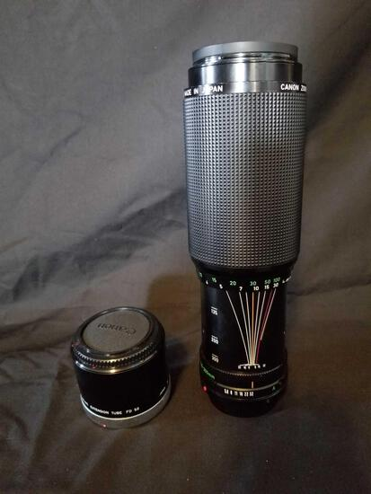 Canon Zoom Lens FD 100-300mm 1 5.6 Extention 2 Units