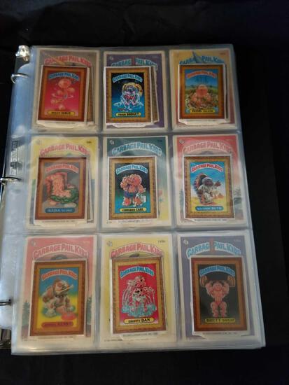 1985 1986 Garbage Pail Kids Cards in Binder