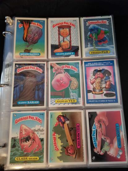 1987 1988 Garbage Pail Kids Cards in Binder