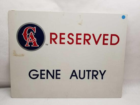 Gene Autry Reserved Parking Sign Angels Stadium