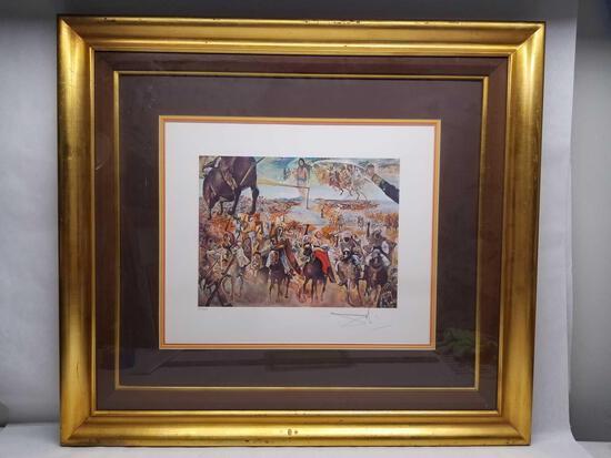 Salvador Dali Battle of Tetuan Signed Numbered Litho