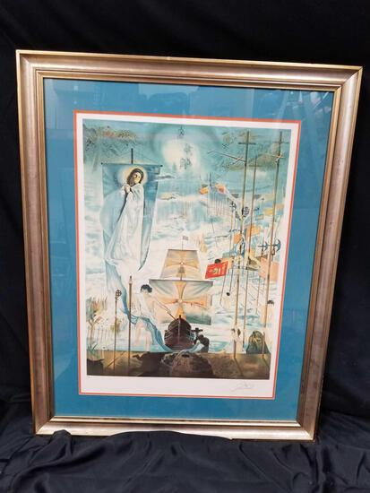 Salvador Dali Discovery of America Signed Numbered Litho