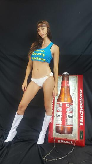 Budweiser Hanging Pool Beer Light Bar sign