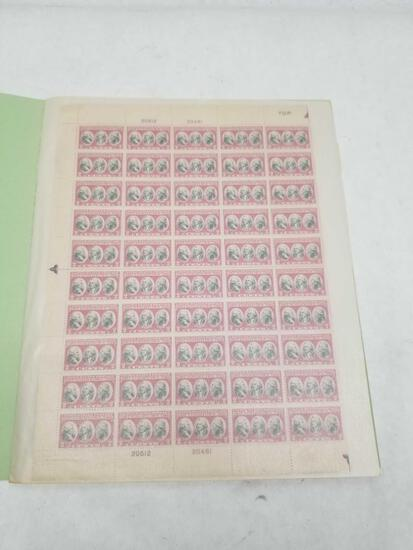 Vintage US Stamp Sheets 8 Units