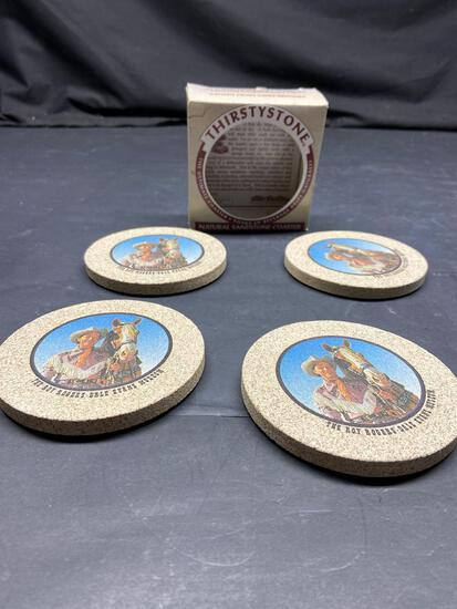 Thirsty stone natural sandstone coasters