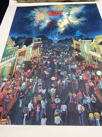 Painting of 1984 USA Olympics at Disneyland