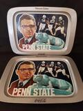 Coca cola Penn State Joe Paterno Serving Tray 2 Units