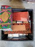 Crate Full of Vintage Decorative Avon Bottles