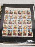 Newer Stamp Blocks In Binder