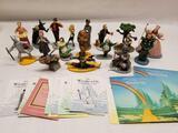 Franklin Mint Wizard Of Oz Portrait Sculpture 18 Units