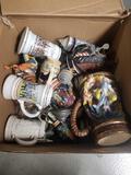 Box Full of Vintage Beer Steins