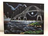 Painting on Black Velvet Canvas