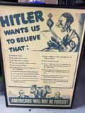 US Propaganda Poster Hitler Repop