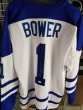 Johnny Bower Signed Hockey Jersey COA