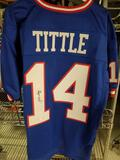Y. A. Tittle Signed Football Jersey COA