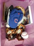 Bin With Assortment Baseball Collectibles