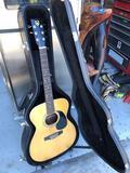 Univox Japanese Acoustic Guitar w/ Hard Case