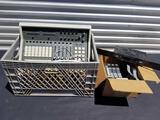 Crate Full of Audio Equipment Wires