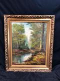 K. Gaiermann Signed & Framed Nature Painting