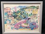 LeRoy Neiman Framed Painting, Loews Monte Carlo