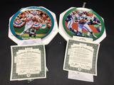 Bob Griese & Joe Namath Plates w/ CoA