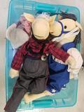Bin Full of Stuffed Animals