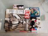 Bin Full of Western Themed Toys Plates Books