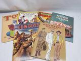 Vintage Paper Doll Coloring Books 6 Units