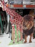 Cardboard Cutout Giraffe Lion 2 Units