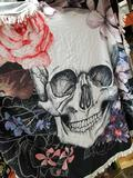 Polyester Skull Fringed Cloth
