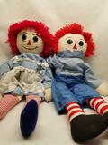 Stuffed Raggedy Ann and Andy Dolls