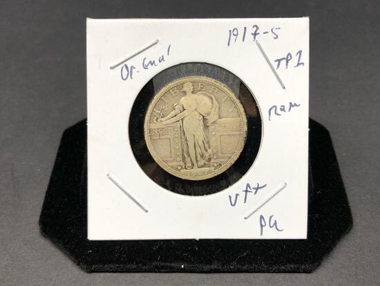 Standing Liberty Quarter 1917 S Type 1