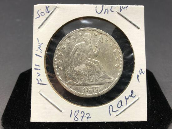Seated Liberty Half Dollar 1877