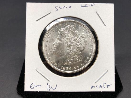 1884 P Gem BU High Grade Morgan Dollar