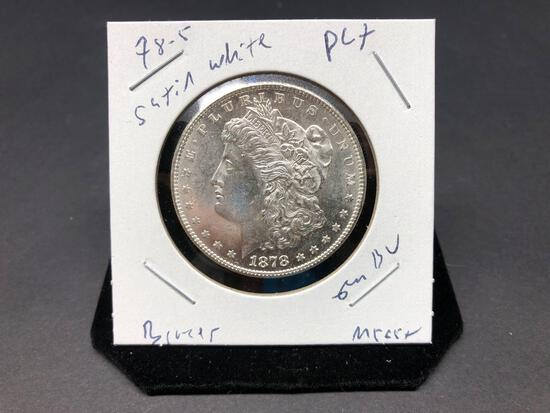 1878 S Gem BU Morgan Silver Dollar PL