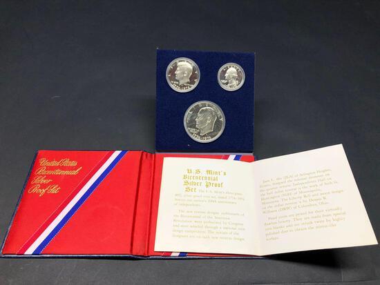 1776-1976 Bicentennial 3 Silver Coin Set