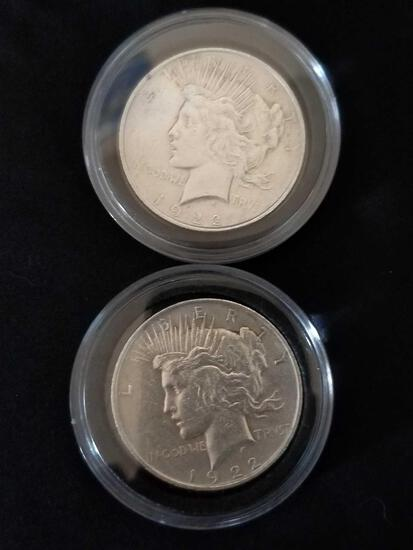 1922 Peace Silver Dollar 2 Units