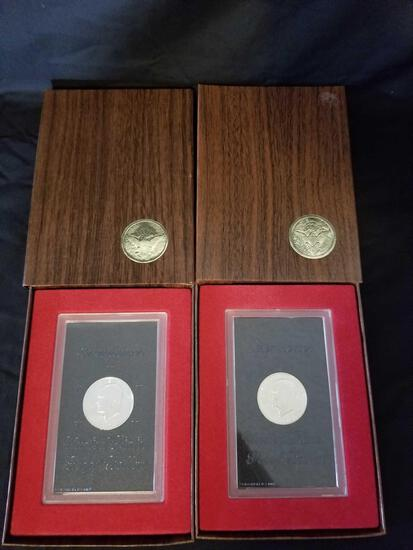 1972 Ike US Proof Dollar in Box 2 Units
