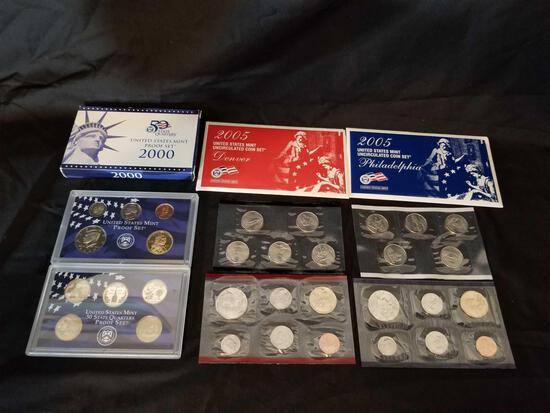 2000 Proof Set 2005 D and P Coin Set 3 Units