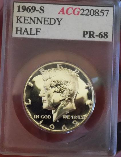 1969 S Kennedy Proof Half 40% Silver
